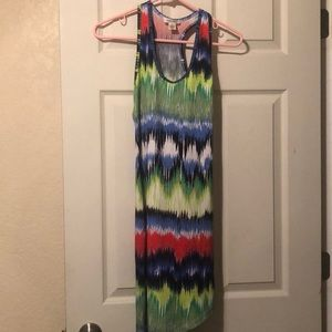 Derek Heart Tie Dye Halter Dress